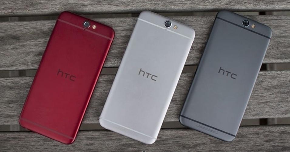 20.out.2015 - A taiwanesa HTC revelou seu novo smartphone top de linha: o HTC One A9.  Com tela de 5 polegadas, câmera de 13MP, memória RAM de 3GB e memória interna de até 32GB, o que mais chama a atenção no dispositivo Android, vendido nos Estados Unidos por US$ 400 (cerca de R$ 1.600), é o design que lembra as mais recentes versões do iPhone (Apple)
