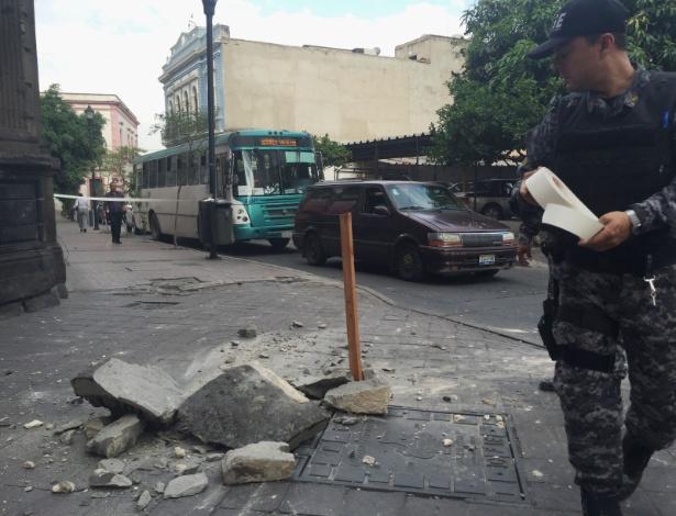 11.mai.2016 - Um terremoto de magnitude 4,8 atingiu a cidade de Guadalajara, no México. Não há registro de vítimas
