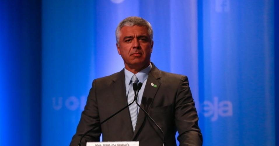 03.set.2016 - O candidato a prefeito de São Paulo Major Olimpio (SD) participa de debate promovido pela RedeTV!