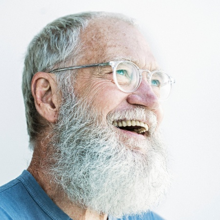 David Letterman deve voltar ao ar ostentando sua longa barba que cultivou no período fora do ar - Damon Winter/The New York Times