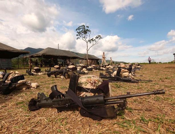 Um dos campos, na Colômbia, onde devem ser feitas as entregas de armas pelas Farc