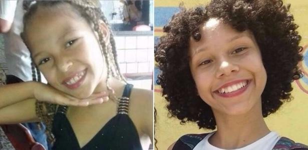 Vanessa Vitória (esq.) e Maria Eduarda morreram vítimas de balas perdidas no Rio