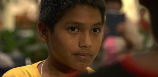 Depois de ser separado do pai, Brayan ficou num centro de detenção para crianças migrantes por quase três meses - Paul Harris/BBC