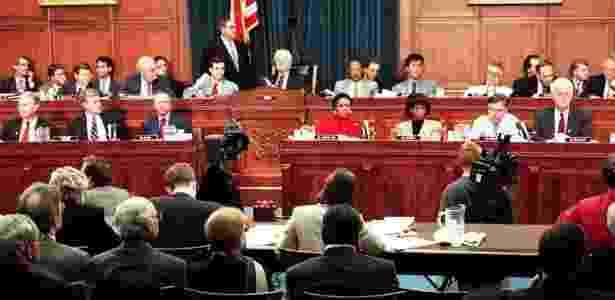 A última vez em que a Câmara dos Representantes votou pela abertura de um processo de impeachment foi em 1998, durante o governo de Bill Clinton  - AFP - AFP