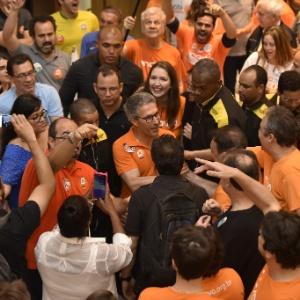 O candidato ao governo de Minas Gerais, pelo partido Novo, Romeu Zema, venceu o primeiro turno e vai disputar o segundo turno com o candidato Antonio Anastasia do PSDB