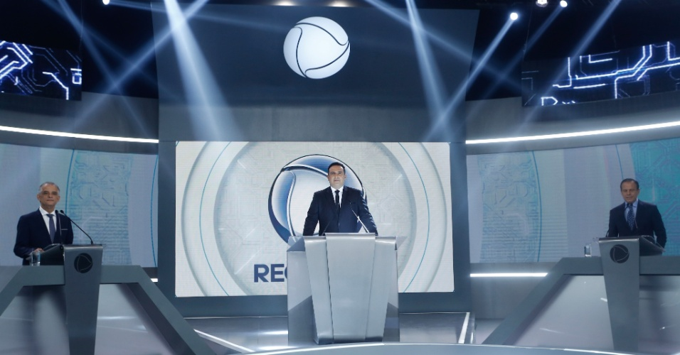 Márcio França (PSB) e João Doria (PSDB) participam do debate na Record