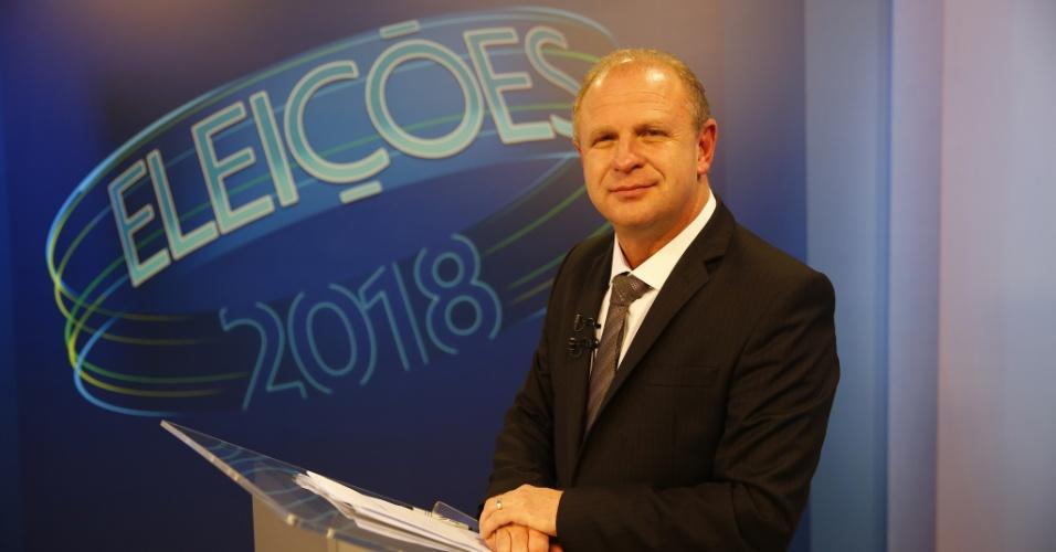 O candidato ao governo do estado de Santa Catarina, Gelson Merisio (PSD), deu entrevista à NSC TV na noite de quinta-feira (25), dias antes do 2º turno