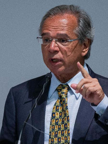 Paulo Guedes, ministro da Economia, em cerimônia de posse - Eduardo Anizelli/Folhapress