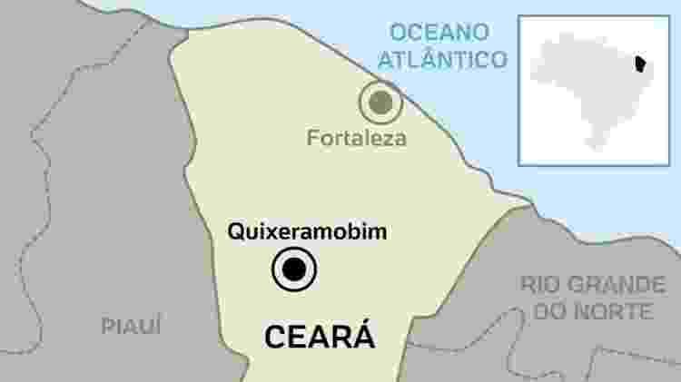 Mapa Quixeramobim - Arte UOL - Arte UOL