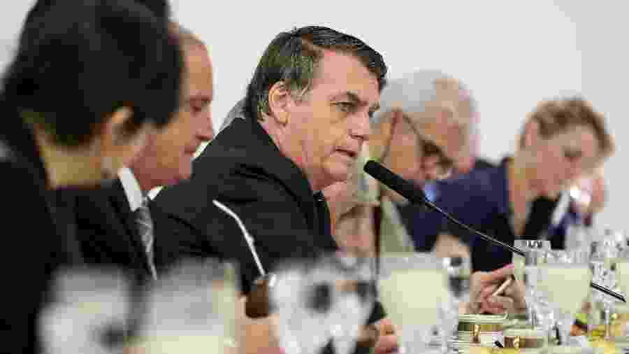 Jair Bolsonaro em café da manhã com correspondentes internacionais - Marcos Correa/Presidência/Divulgação