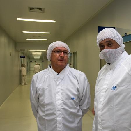 O então governador Geraldo Alckmin em visita à Furp - Governo do Estado/Divulgação