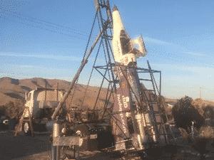 Este é o foguete em que Mad Mike estava quando caiu e morreu - Reprodução - Reprodução