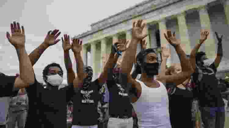 """Em memorial para George Floyd, advogado disse que ele foi morto por """"pandemia de racismo"""" - Getty Images - Getty Images"""