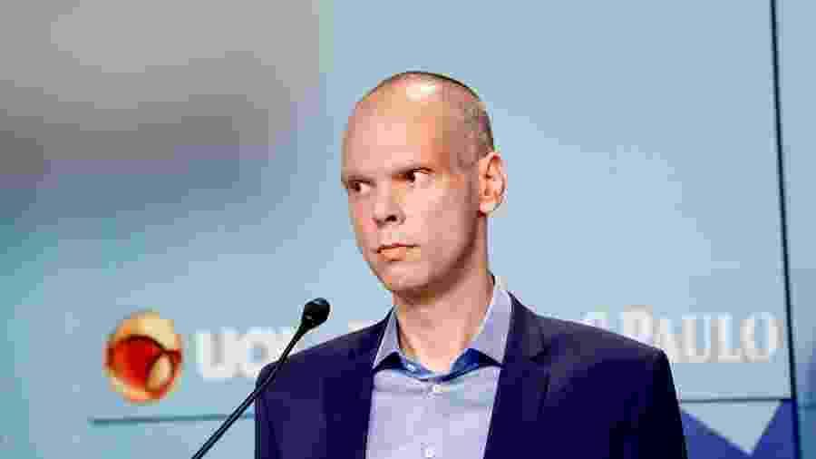 11 nov. 2020 - Candidato à prefeitura de São Paulo Bruno Covas (PSDB) durante debate promovido pelo UOL e Folha de S.Paulo - Mariana Pekin/UOL