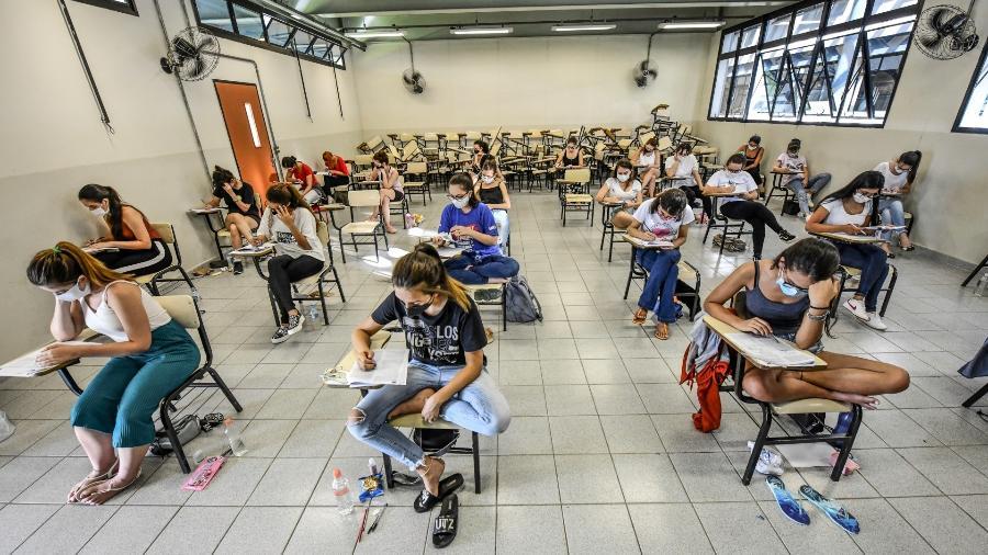 Quase 67 mil candidatos fizeram as provas de primeira fase do vestibular da Unicamp - Lucas Lacaz Ruiz/Estadão Conteúdo