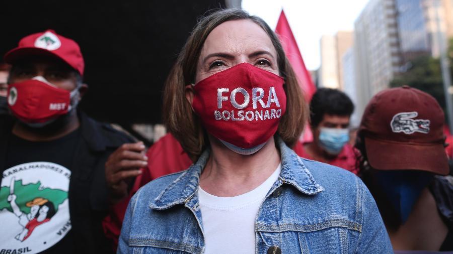 A deputada federal Gleisi Hoffmann (PT) usou as redes sociais para criticar o avanço da alta do preços de elementos básicos - Ettore Chiereguini/Estadão Conteúdo