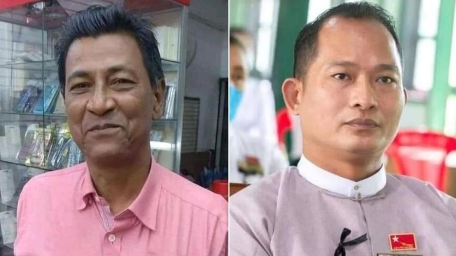 Khin Maung Latt (esq.) e Zaw Myat Lynn (dir.) morreram no início de março - BBC