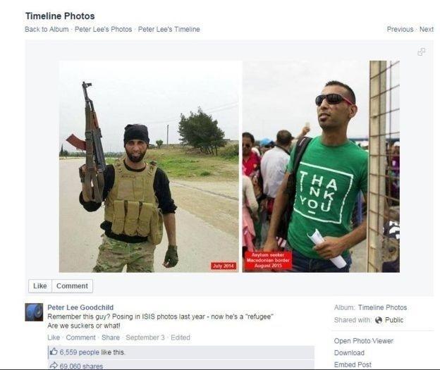 28.dez.2015 - Refugiado sírio retratado como militante do Estado Islâmico na verdade era integrante de grupo de rebeldes moderados