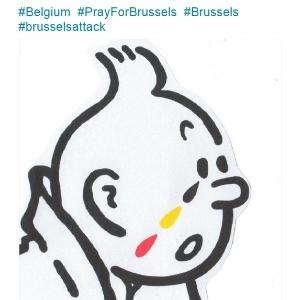 Tintin vira símbolo da solidariedade à Bélgica - Reprodução/Twitter