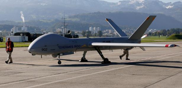 Drone Hermes, de fabricação israelense, é usado pelas Forças Armadas no Brasil