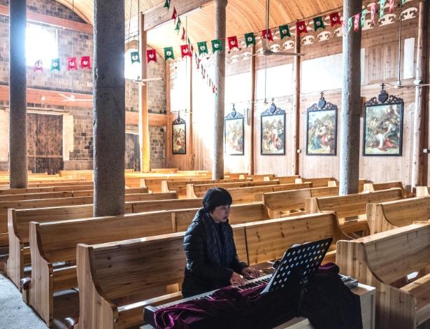 Igreja Católica na área rural da região de Mindong, na China