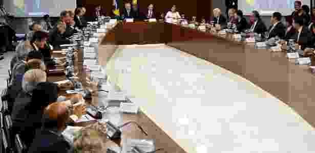 1º.mar.2018 - Presidente Temer se reúne com governadores em Brasília - EVARISTO SA/AFP - EVARISTO SA/AFP