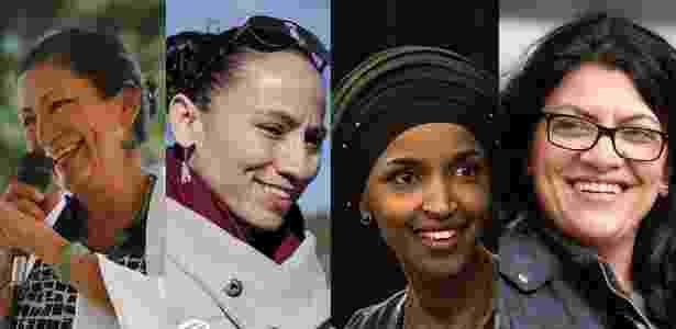 Arte UOL, com imagens de Mark Ralston/AFP; Whitney Curtis/AFP; Stephen Maturen/ AFP; e Rebecca Cook/Reuters