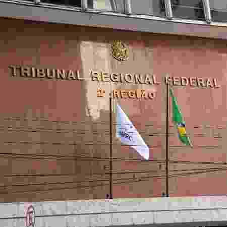 05.dez.2018 -- Fachada do TRF-2 (Tribunal Regional Federal da 2ª Região), no Rio de Janeiro - Jorge Hely/FramePhoto/Folhapress