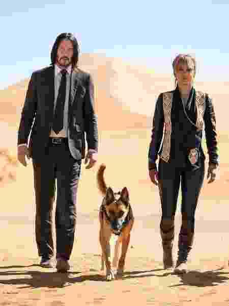 """Keanu Reeves e Halle Berry em cena oficial de """"John Wick: Capítulo 3"""" - Reprodução/Entertainment Weekly"""