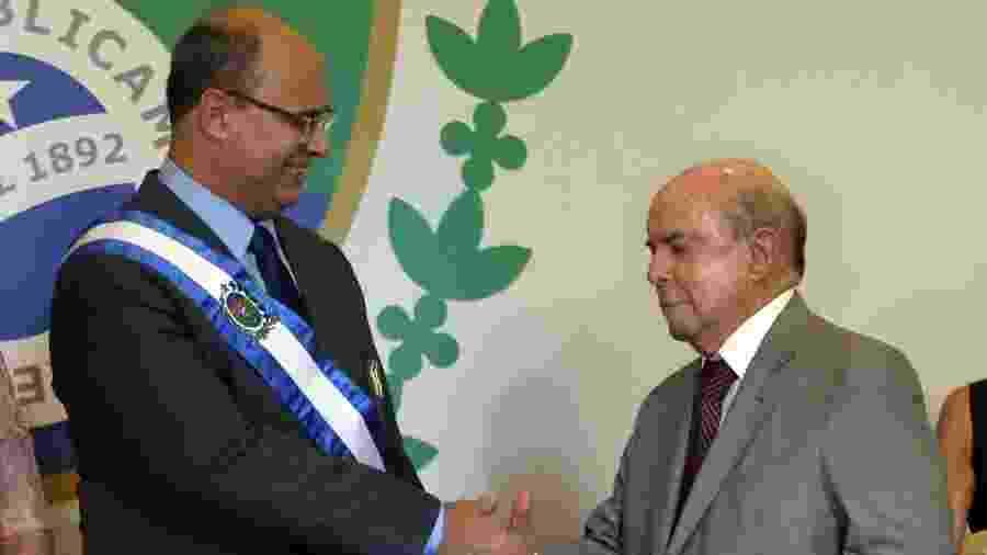 Governador Wilson Witzel recebeu a faixa do ex-governador em exercício, Francisco Dornelles, no Palácio Guanabara - Fábio Motta/Estadão Conteúdo