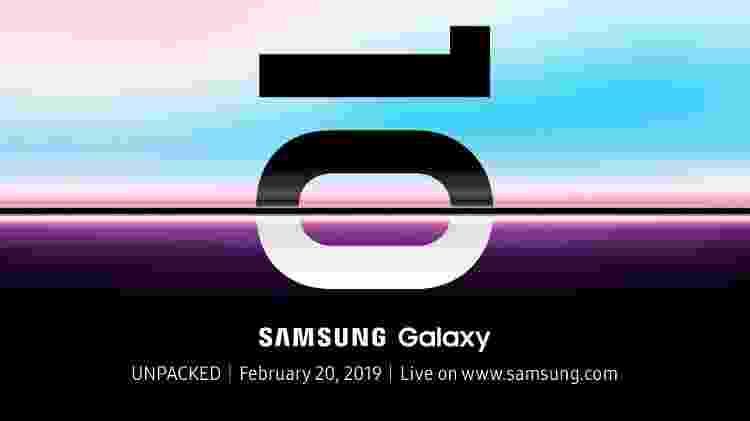 Samsung enviou convites para lançamento do Galaxy S10 - Reprodução