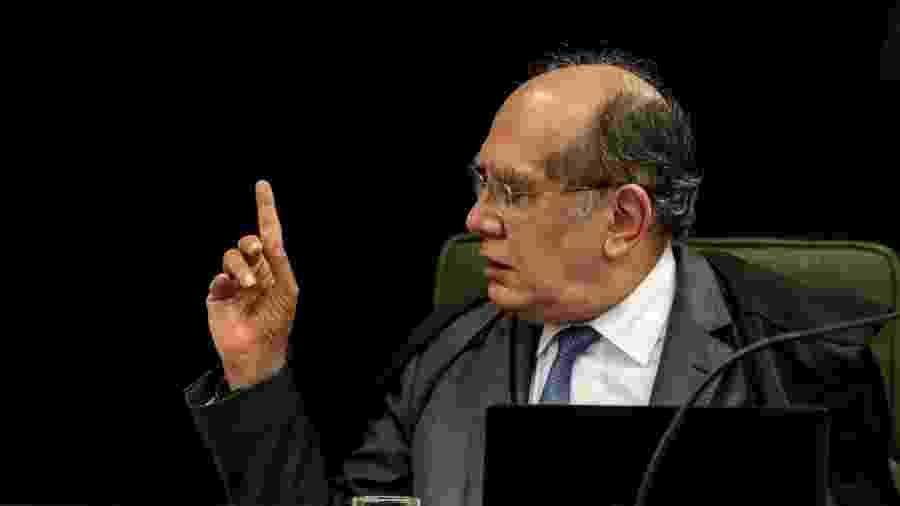 25.jun.2019 - O ministro Gilmar Mendes durante sessão da Segunda Turma do Supremo Tribunal Federal, em Brasília - Gabriela Biló/Estadão Conteúdo