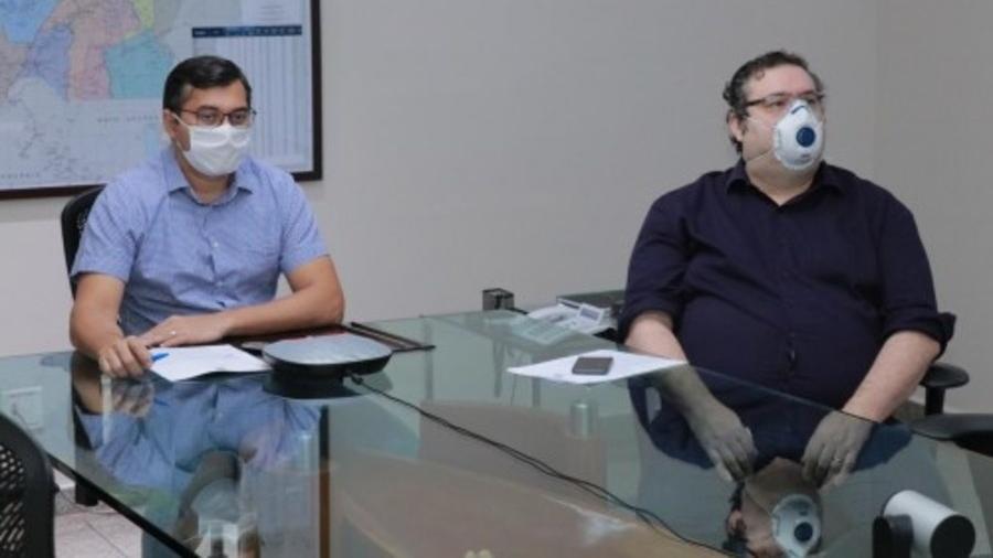 Governador do Amazonas, Wilson Lima (PSC), defendeu mais testes para a covid-19 - Maurilio Rodrigues/Secom