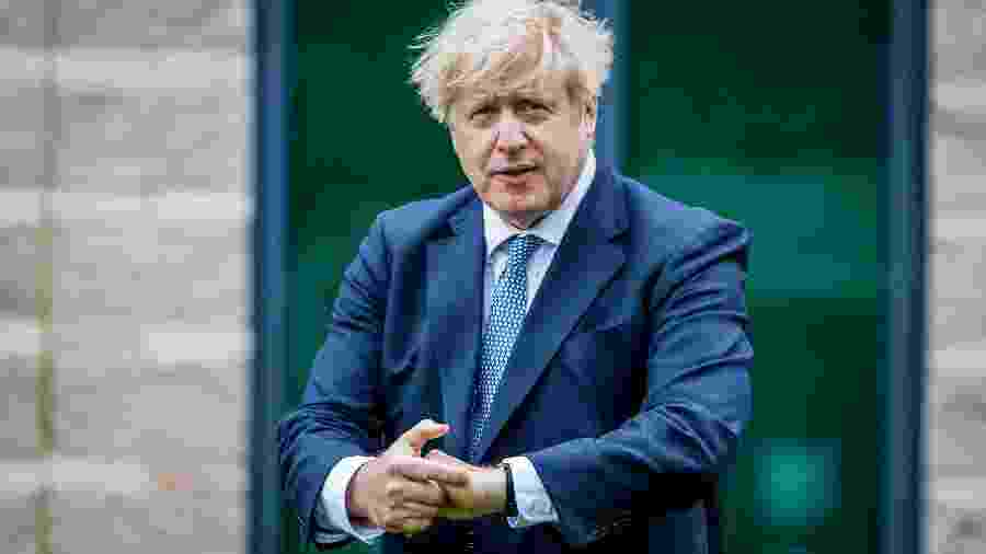 Premiê britânico, Boris Johnson, em Northallerton -