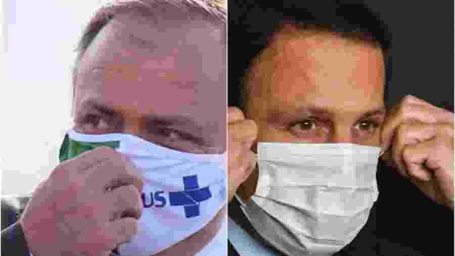 O ministro da Saúde Eduardo Pazuello e o governador de SP João Doria - Adriano Machado e Roberto Casimiro/Fotoarena/Estadão Conteúdo