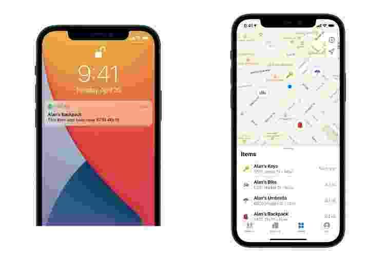 Identificação de objetos que estão com AirTag - Divulgação/ Apple - Divulgação/ Apple