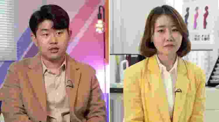 Kim Geum-hyok (esq.) e Yoon Mi-so (dir.) fugiram da Coreia do Norte - Collage - Collage