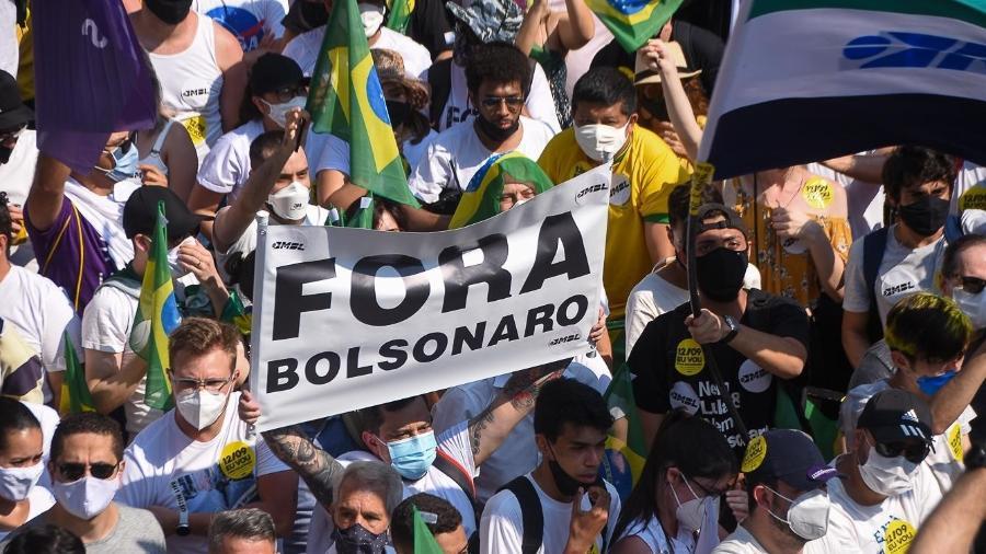 Parte do grupo esteve presente em atos no último domingo, mas optou por uma participação discreta - Ronaldo Silva/Futura Press/Estadão Conteúdo