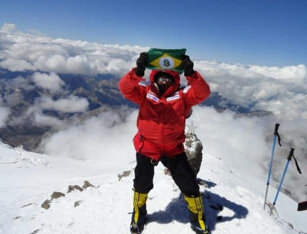 Brasileiro Rosier Alexandre já havia conquistado outros seis cumes de montanhas pelo mundo