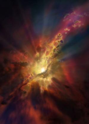 Astrônomos observam evento inédito em enorme buraco negro