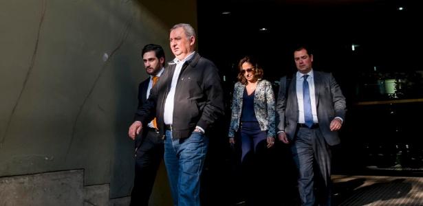 O empresário e pecuarista José Carlos Bumlai ao deixar a sede da Justiça Federal em São Paulo - Chello Fotógrafo - 27.jun.2016/Futura Press/Estadão Conteúdo