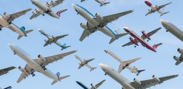 Montagem de fotos do aeroporto de Munique, na Alemanha