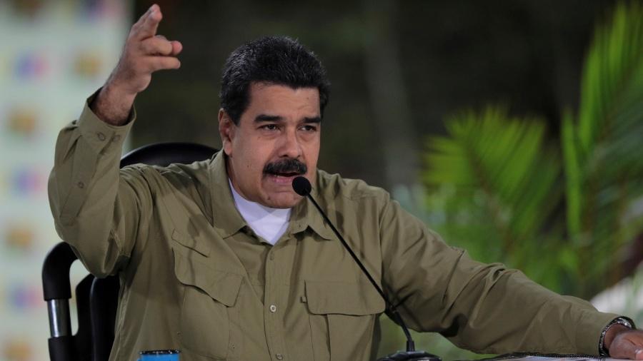 """""""No sábado, 23 de fevereiro, a Venezuela sofreu uma agressão por parte do governo colombiano nas pontes fronteiriças do estado de Táchira"""", disse o líder venezuelano - Palácio de Miraflores/via Reuters"""