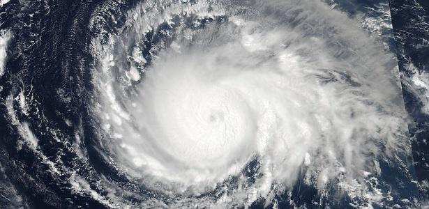O grande olho do furacão Irma