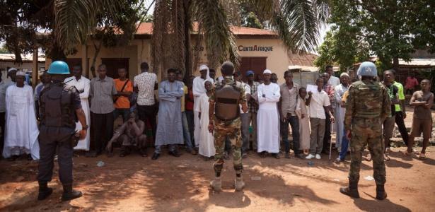 Capacetes azuis da ONU na República Centro-Africana