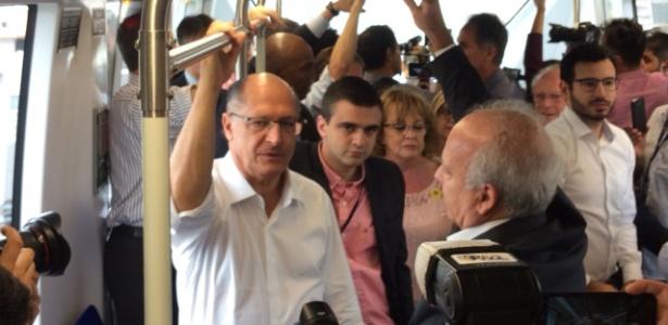 Alckmin participa de inspeção às obras da linha 15-Prata do Metrô