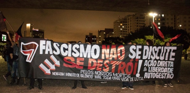 Protesto contra o fascismo em São Paulo ocorrido em março - Gabriel Henrique/Futura Press/Estadão Conteúdo