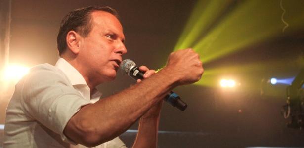 O candidato do PSDB ao governo de São Paulo, João Doria, durante convenção