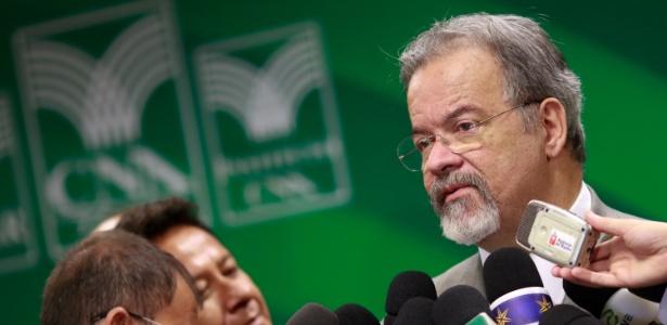 O ministro da Segurança Pública, Raul Jungmann, durante encontro na Confederação da Agricultura e Pecuária, em agosto