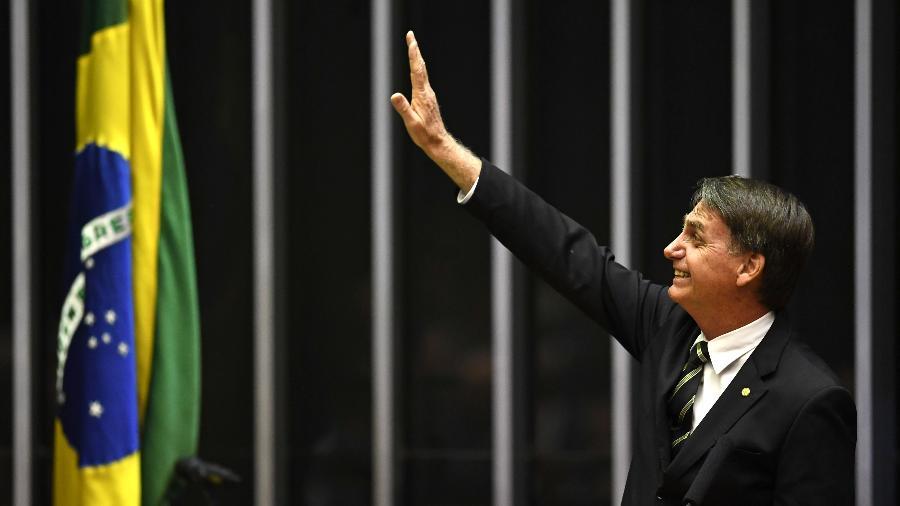 Jair Bolsonaro no Congresso - Pedro Ladeira/Folhapress - 6.nov.2018